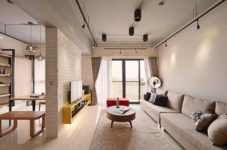 132平北欧风格三居客厅效果图