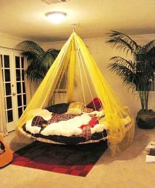 室内吊床装修装饰效果图