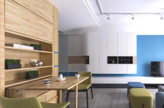 80平北欧风格二居餐厅效果图