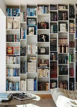 客厅墙面书架布置欣赏图