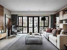 160㎡新中式三居室装修图片  古韵风骚时代