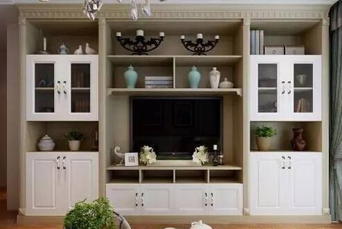 客厅简欧风格装修效果图 欧式客厅电视柜装饰设计