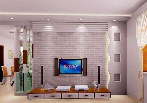 下面一起来欣赏2017时尚电视墙装修效果图 这款电视墙颜色的搭配非常