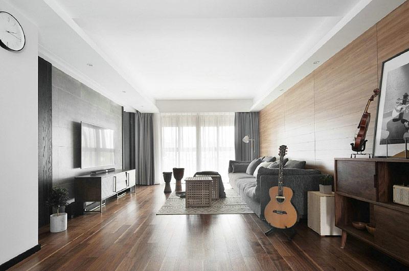 161平北欧风格三居客厅效果图