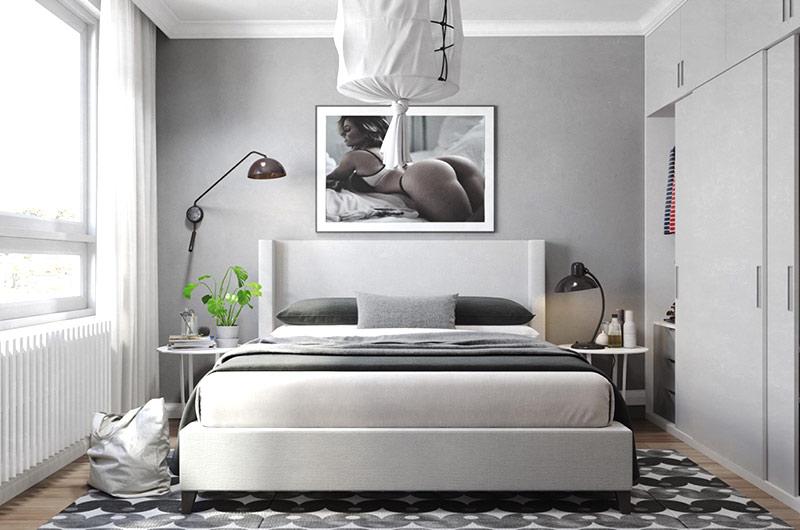北欧风格一居室装修卧室效果图