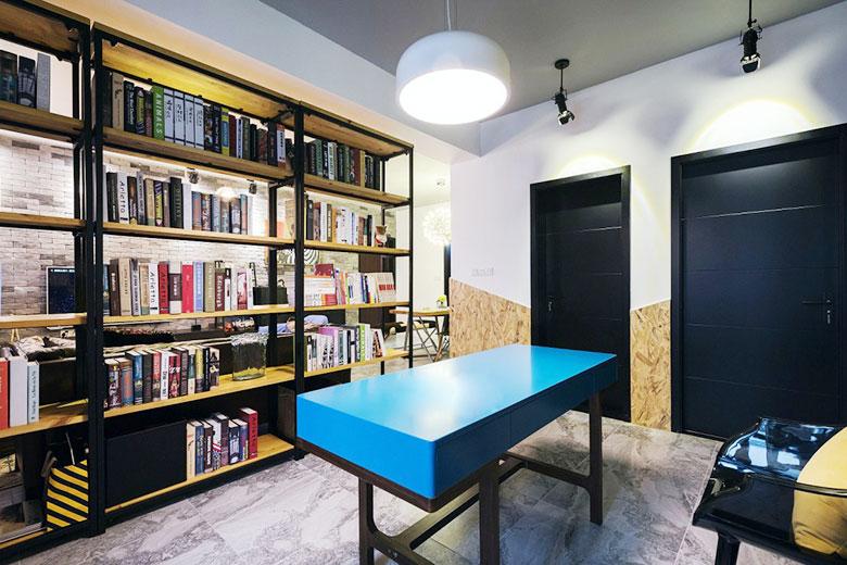 北欧混搭单身公寓书房效果图