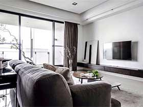 120平米现代风格公寓效果图  自然纹理