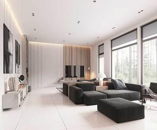 现代简约风两居室整体效果图