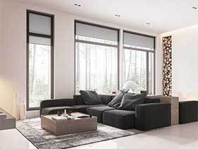 现代简约风两居室效果图  普通阳光最温馨