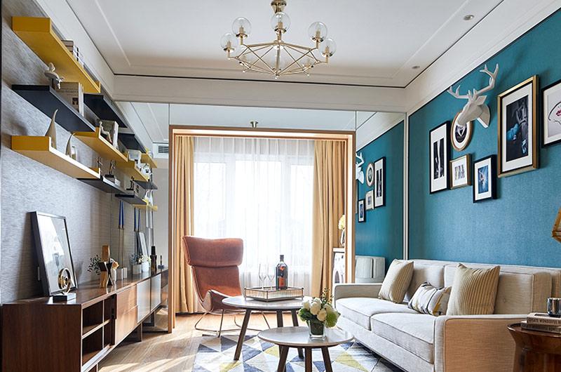 89平简约风格三居客厅装修图