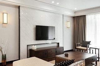 138平新中式风格石材电视背景墙