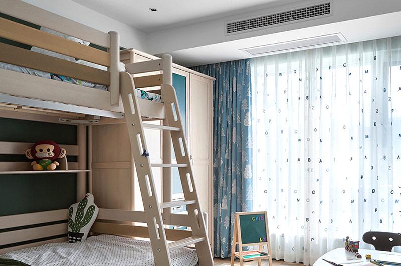 161平简约风格四居儿童房高低床图片