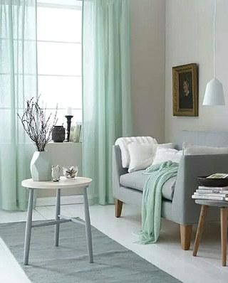 客厅窗帘设计图效果