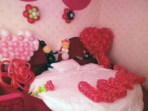 婚房气球设计图欣赏 婚房用气球怎么装扮