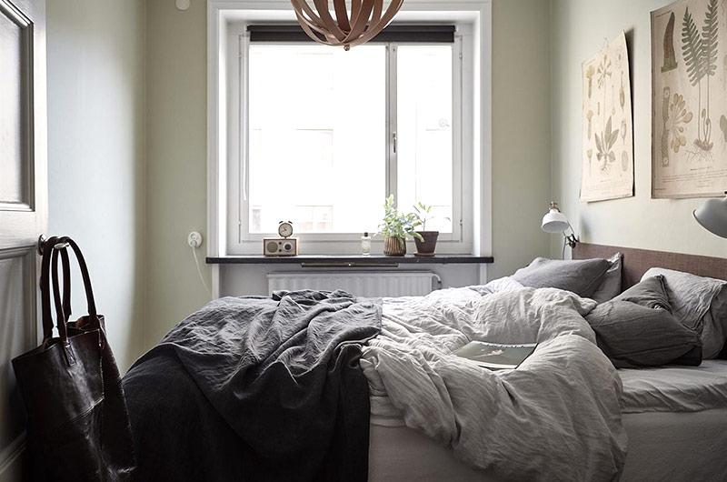 52平北欧风格一居卧室装修图