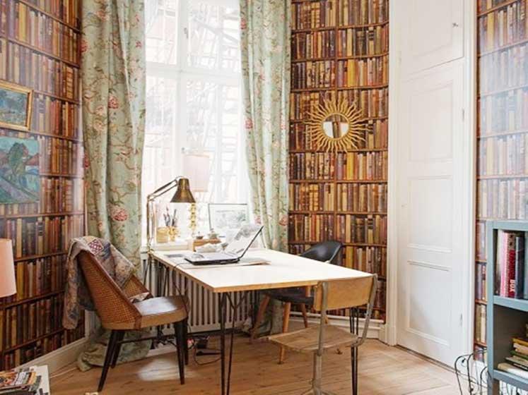 书架背景墙装修装饰图