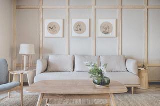120平日式风格三居客厅效果图