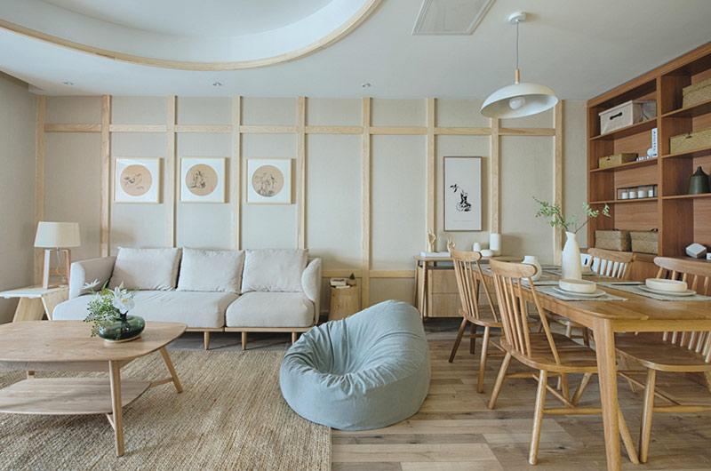 120平日式风格三居懒人沙发图片