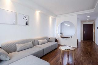 89平简约风格二居布艺沙发图片