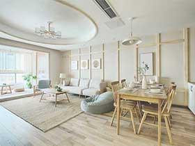 100㎡日式三居室装修图片   禅意之家