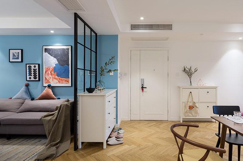 北欧风格三居室玄关隔断图片