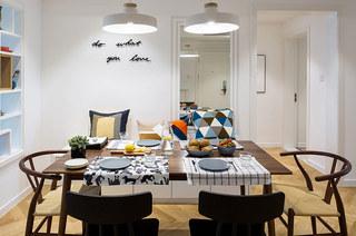 北欧风格三居室餐厅效果图