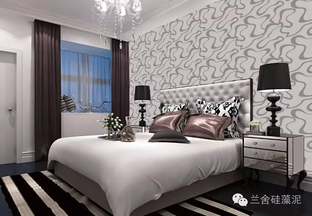 你也可以选择自己喜爱的图案,兰舍硅藻泥可以手工匠造随心设计,让卧室