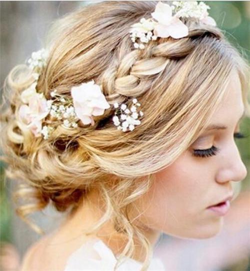 鲜花新娘发型图片2017 如何打造新鲜花新娘发型图片