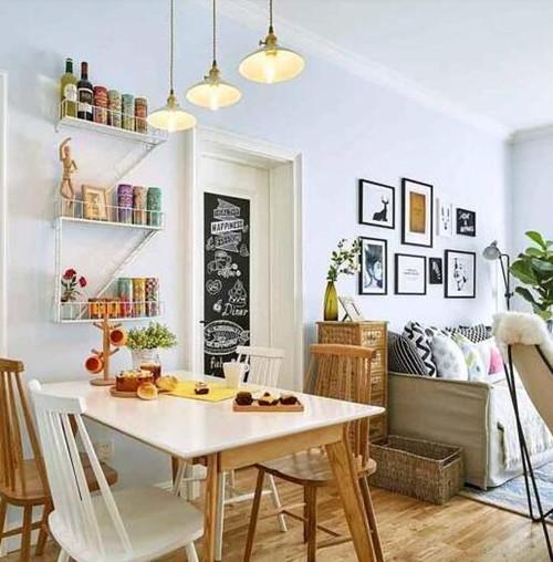 60平米小户型设计图 灿烂多彩的60平两居室案例