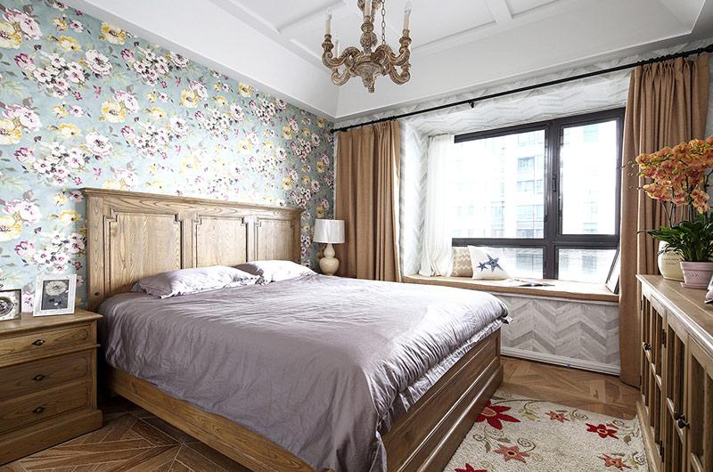 139平法式风格四居卧室壁纸图片