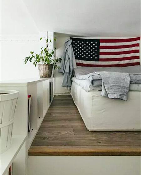 20平单身公寓装修卧室木地板装修