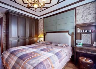 美式乡村两居室卧室装修图片