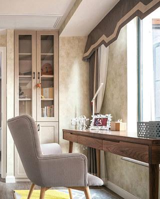 90平北欧风格二居书房装修设计