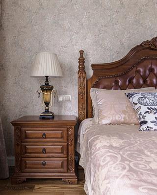 178平美式风格四居卧室壁纸图片