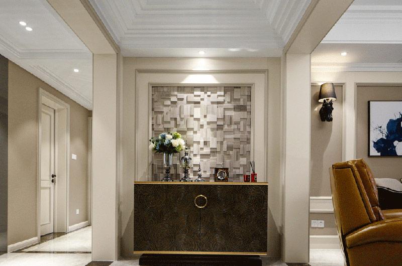 140平美式风格三居玄关柜图片