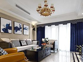 140平美式风格三房两厅装修 优雅轻奢空间
