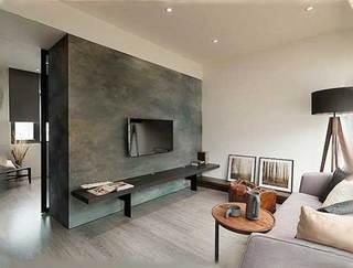 精致客厅摆放电视背景墙图片