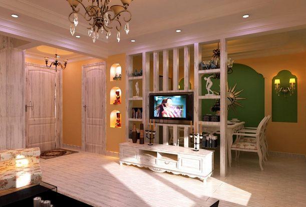 客厅餐厅隔断柜效果图 完美设计让客厅锦上添花图片