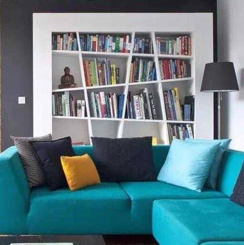 沙發后柜子設計圖 沙發小背景也可以有大收納圖片