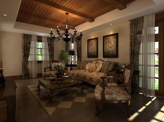 装修价格仿古效果图打造v价格的美式生活空间客厅墙纸背景无纺布电视图片