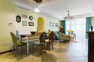 146平美式风格二居餐厅装饰图