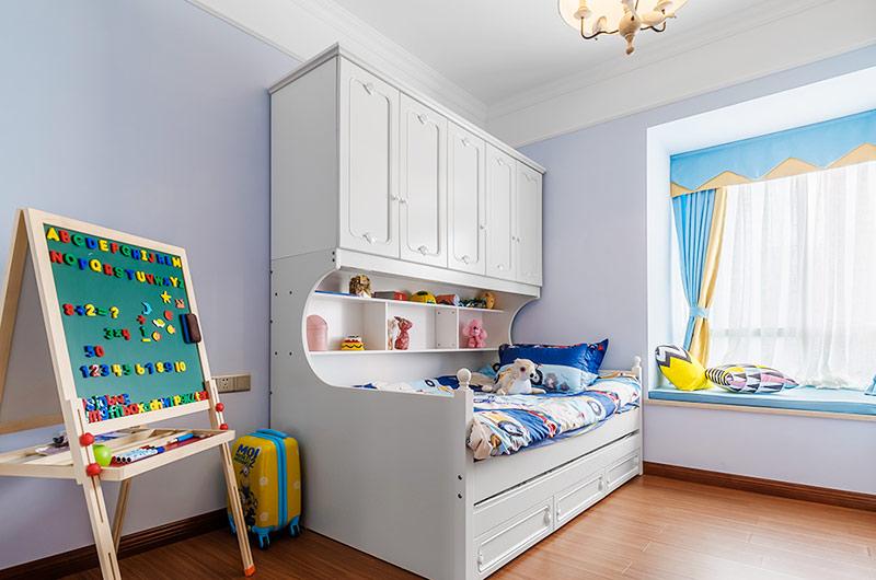 80平美式风格二居儿童房装修