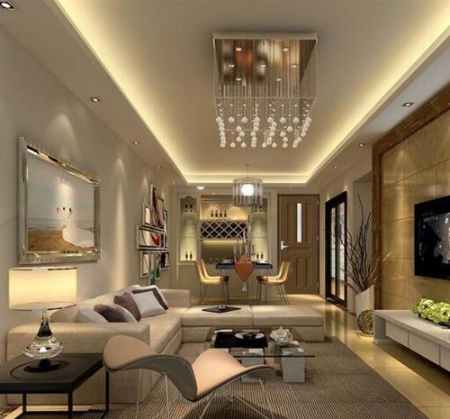 小客厅吊顶效果图 小户型客厅做吊顶怎么样