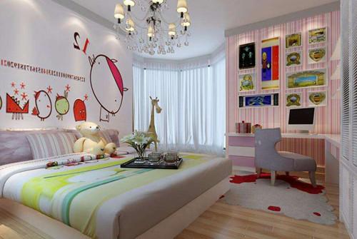 另外房间中的窗帘也非常的可爱