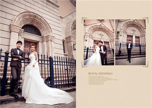 婚纱照排版有哪些风格 2017有个性的婚纱照排版推荐图片