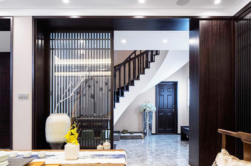 400平新中式风格别墅隔断装修