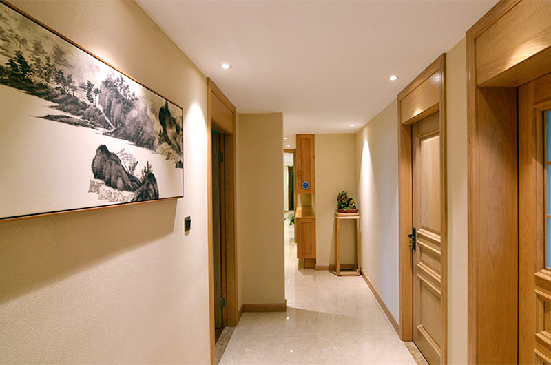 220平新中式风格四居过道装修设计