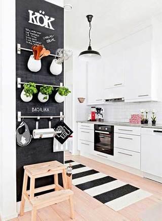 室内黑板墙设计实景图