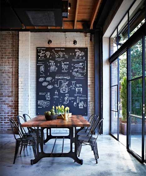 室内餐厅黑板墙图片大全