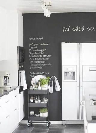 室内厨房黑板墙构造图